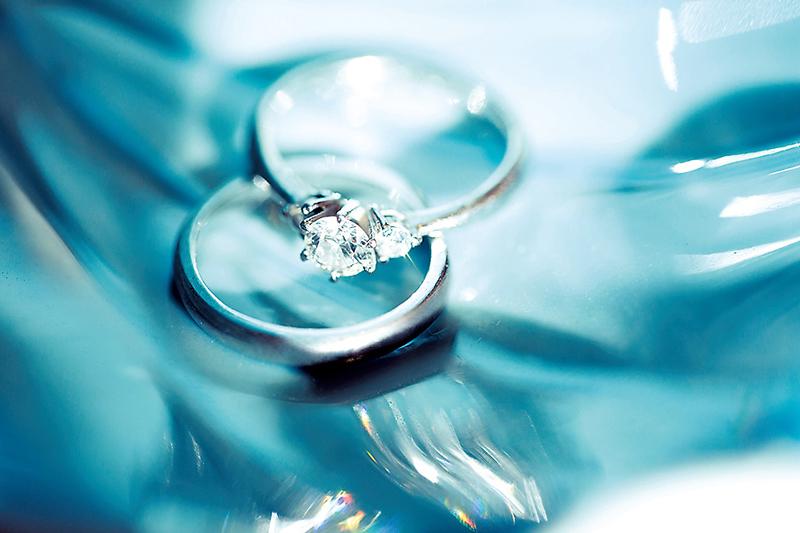 彼の先輩に作ってもらったオーダーメイドの指輪