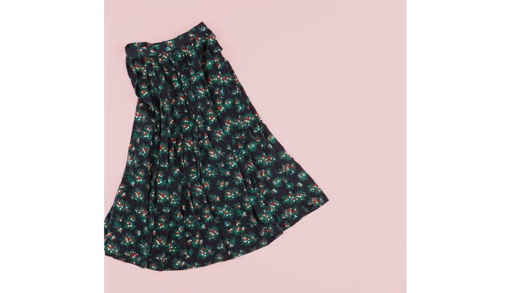 DES PRÉSの花柄スカート