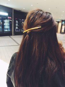 いつものヘアアレンジにひとひねり~バレッタ編①~