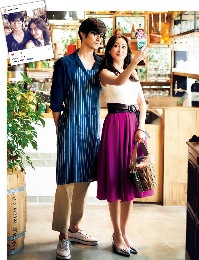 【9/1】インスタジェニックな オシャレなカフェへ。 イケメン店員とちゃっかり ツーショットをゲット♥