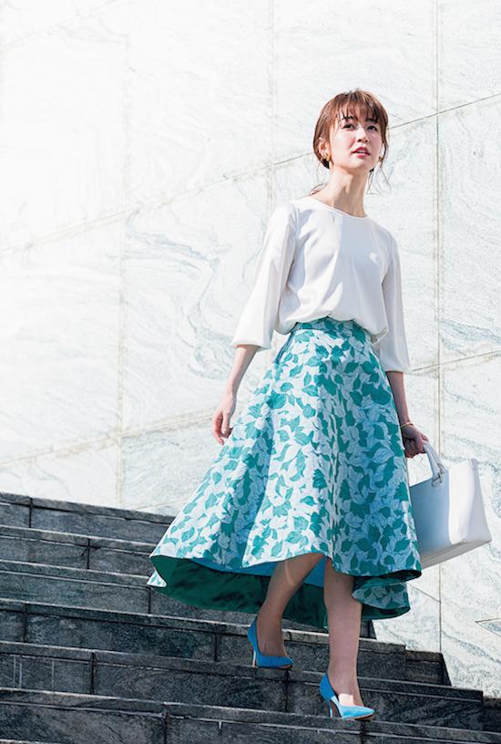 ジャガード風スカート/デザイン