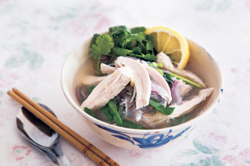 春雨でヘルシーなフォー風スープ