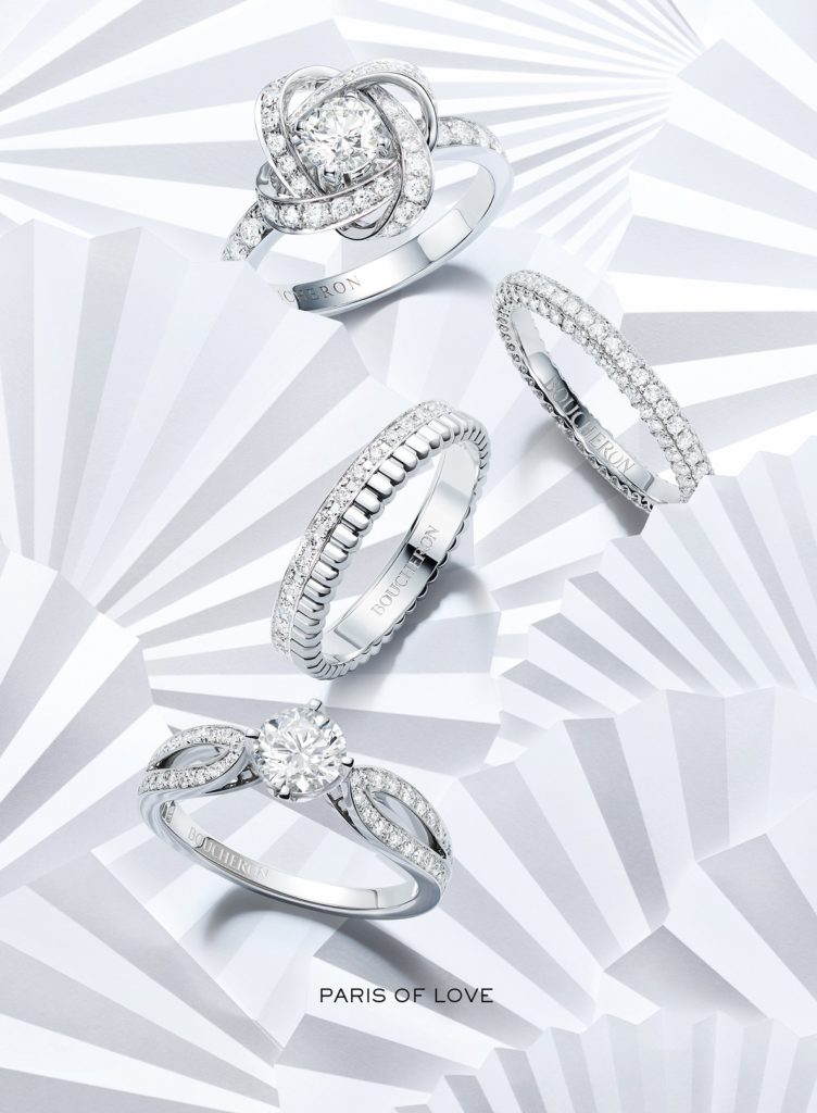 フェアでは、繊細なダイヤモンド