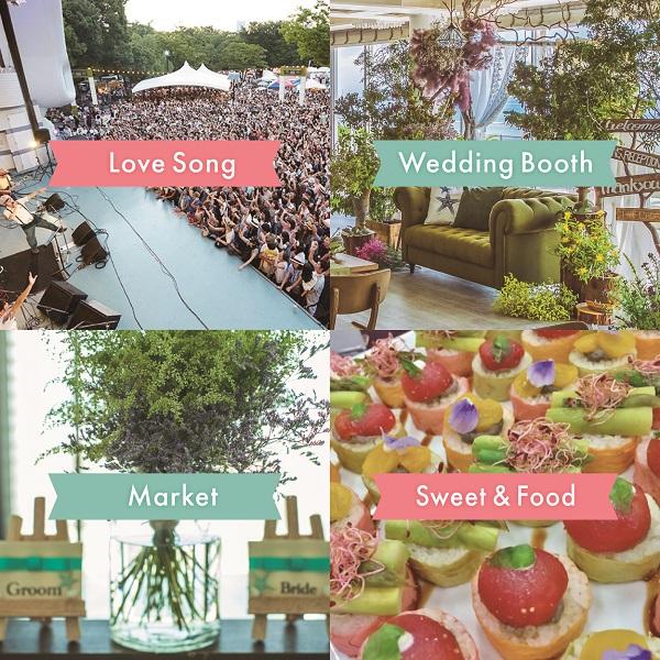 会場には、国内外の結婚式場がブ