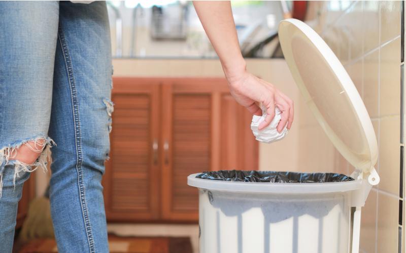 (4)ゴミ箱をチェックする