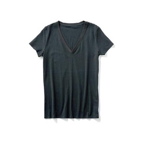 【A】VネックTシャツ ONに