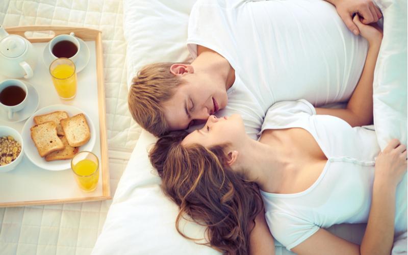 「今日は朝まで一緒にいられそう!」
