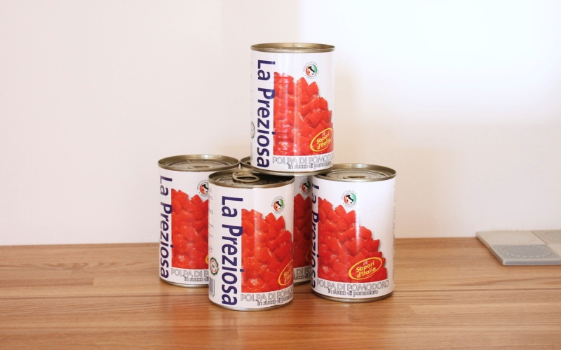(1)トマト缶「ラ・プレッツィオーザ」