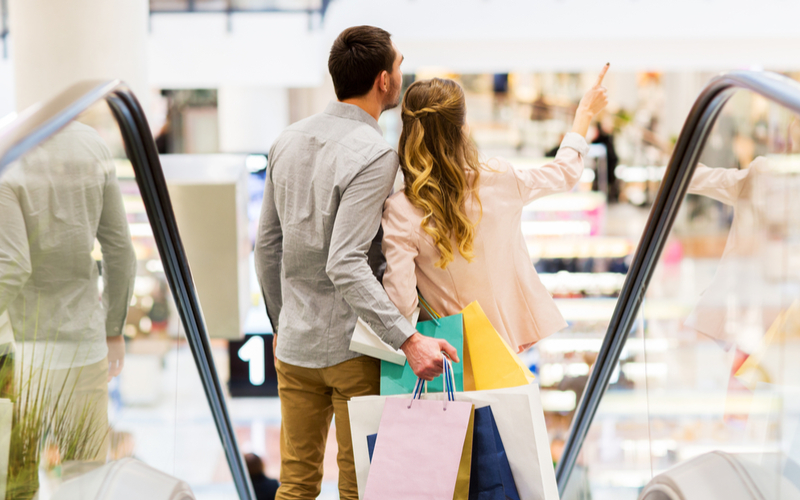大型のショッピングモール