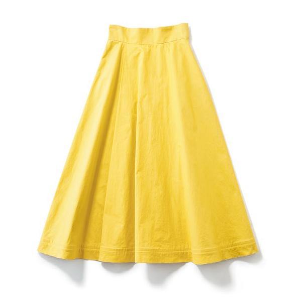 【H】カラースカート 体型をき