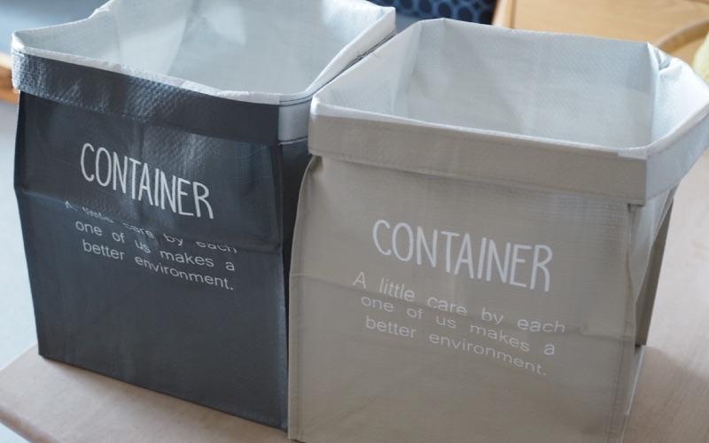 ■3.ゴミの分別にも!連結できるバッグコンテナ