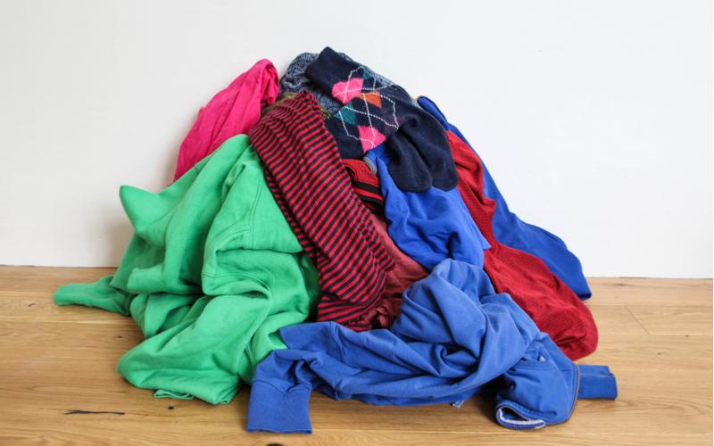 片付ける服の量を把握する
