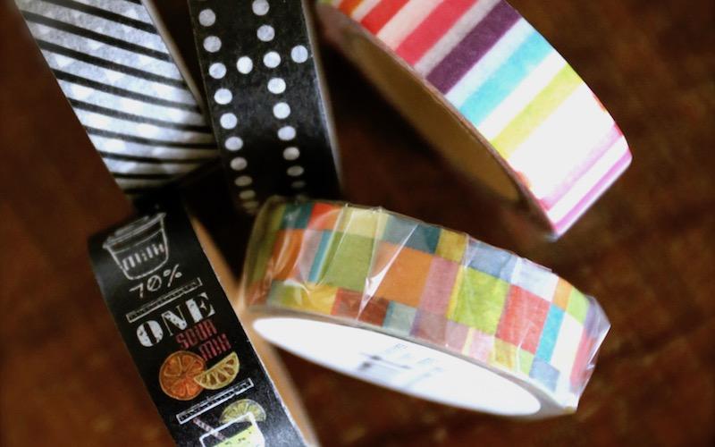 つまようじとマスキングテープで彩りグッズを手作り!
