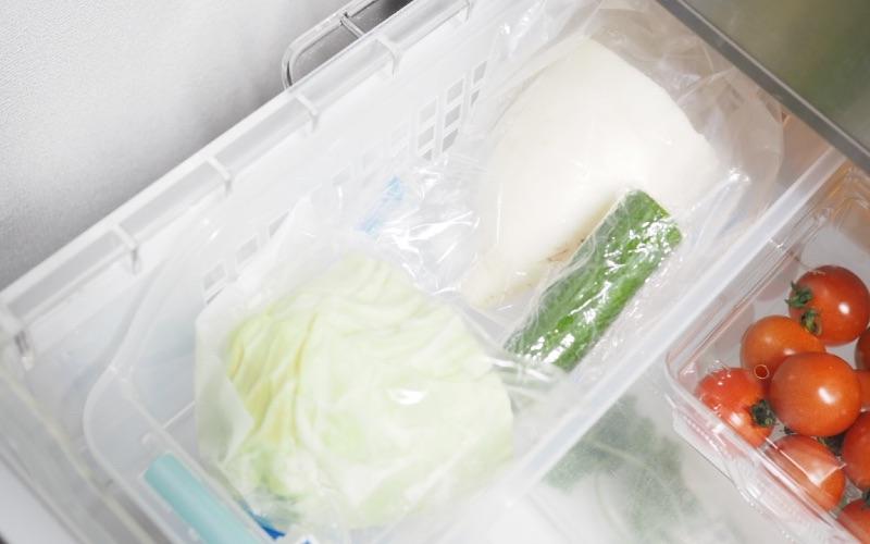 ■使いかけの野菜は分けて収納する