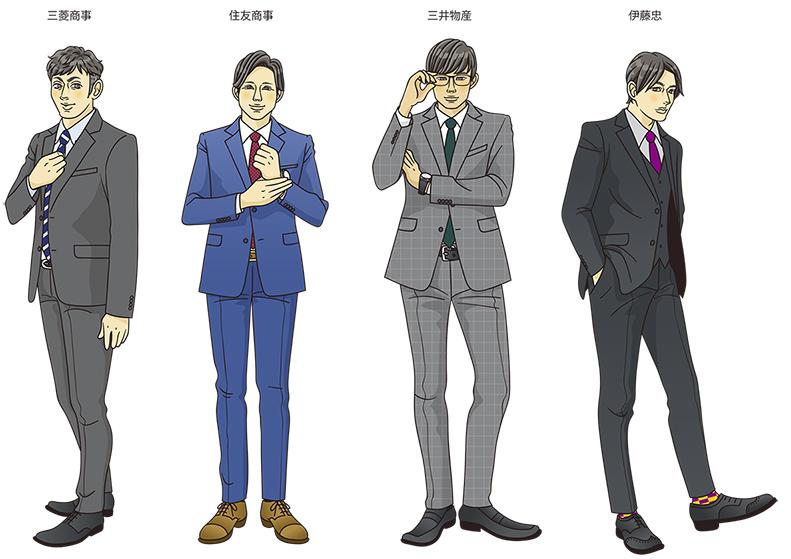 「こんな人いる!」働く男子キャラ図鑑~総合商社編~