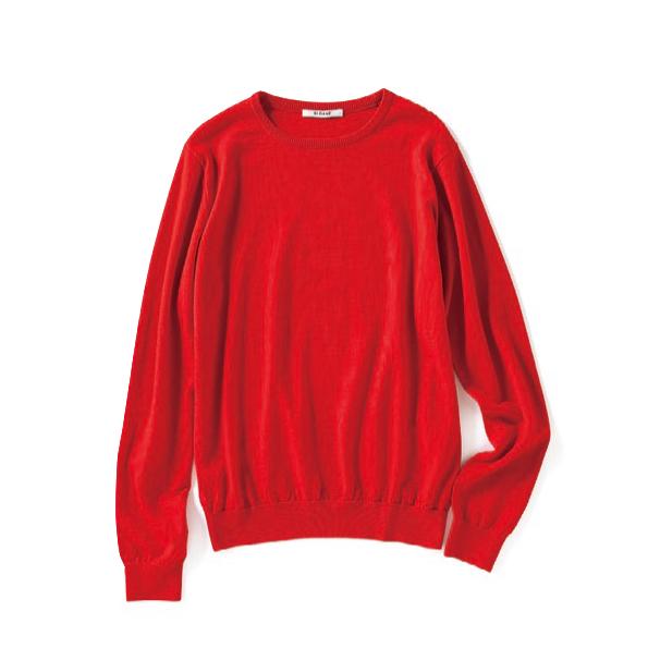 【A】赤ニット 鮮やかな暖色レ