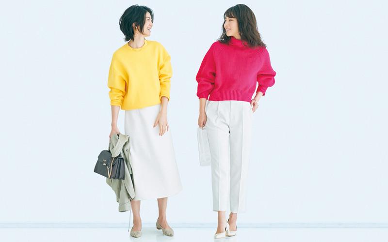 【「いつもそれ着てるね」って言われたくない…】カラートップスの新鮮な着こなし方6選