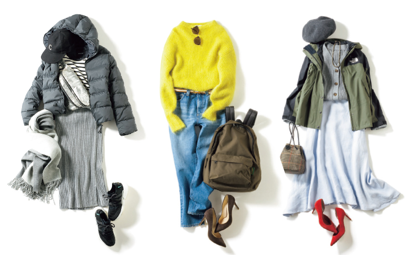 アラサー世代のベーシック服にアクティブなアイテムをプラスした合計17着で【2月の着回しDiary①】