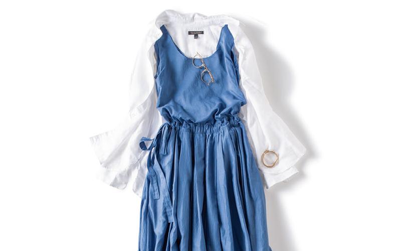 羽織にもなる白シャツは夏に絶対取り入れたい万能アイテム【今日のコーデ|着回しDiary】