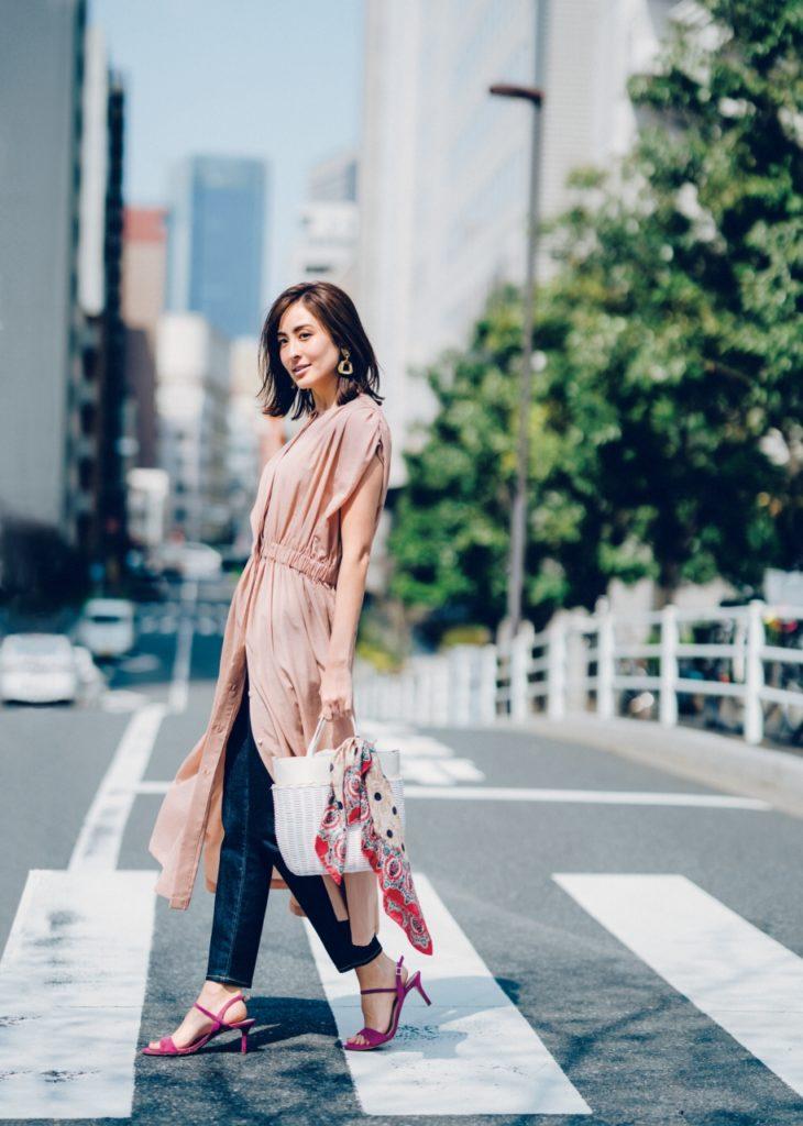 【今日の服装】梅雨終了!?キレイめワンピが涼し気&今どきに見える、夏の通勤コーデ【アラサー女子】
