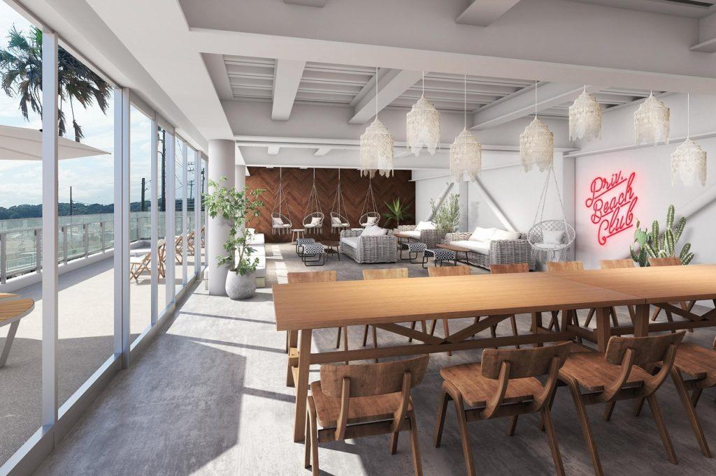 1階のカフェスペースは、話題の