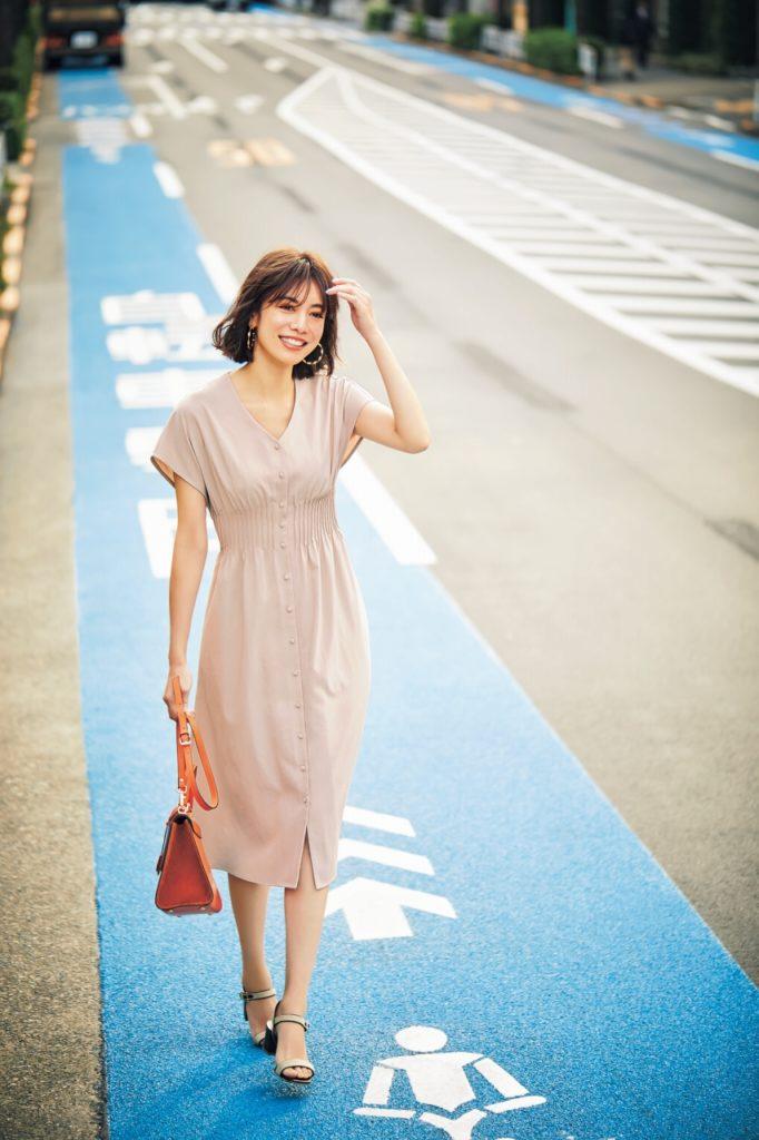 【今日の服装】フィット&フレアのコントラストが美人な気品あるワンピース【アラサー女子】