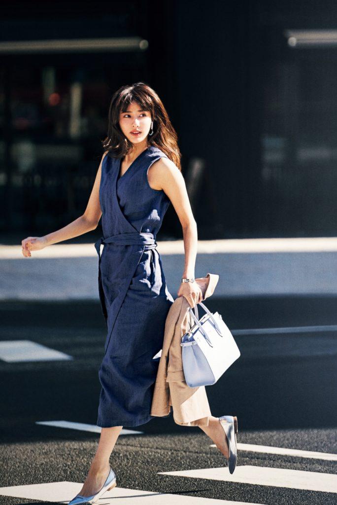 【今日の服装】フィット&フレアシルエットのワンピはリネン素材で今年らしく【アラサー女子】