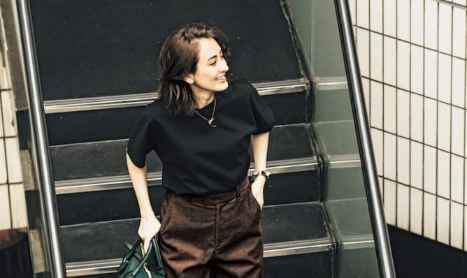 【今日の服装】シンプルコーデだけど秋を先取れる辛口配色って?【アラサー女子】