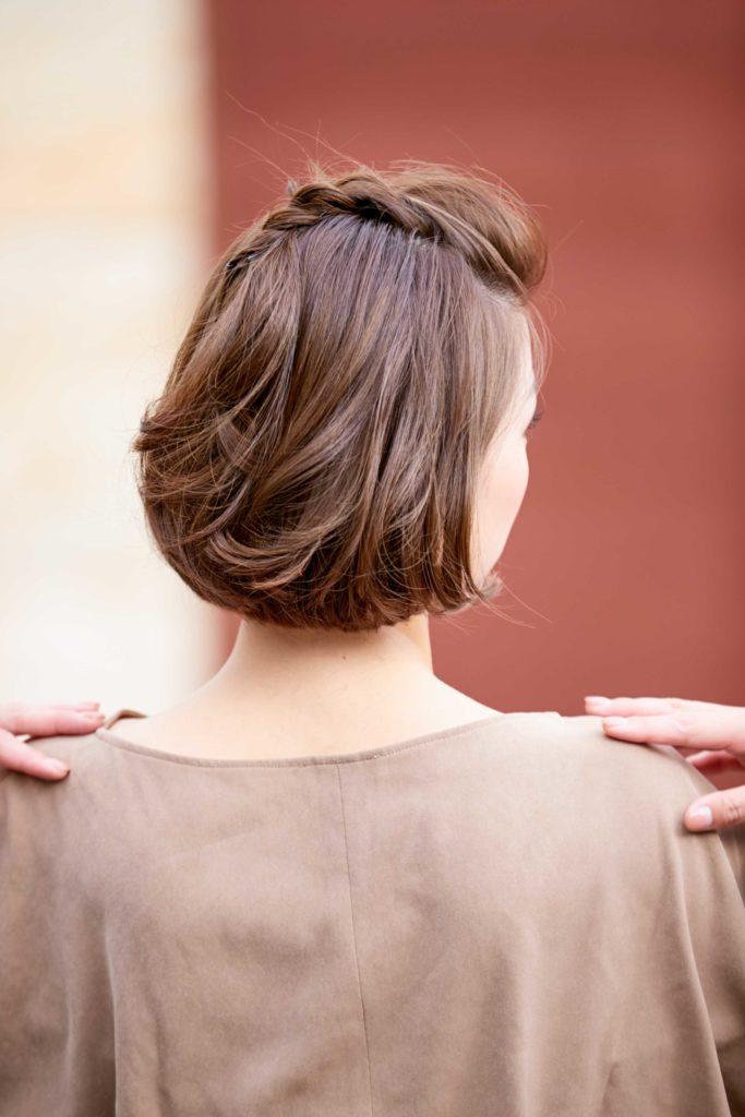 Before ☑肩につかない長