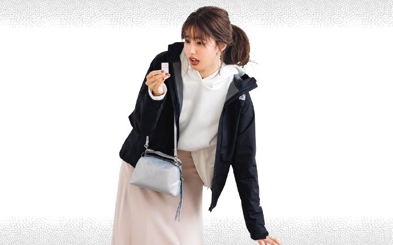 ノースフェイスのマウンパをスカートに合わせてきれいめカジュアル【今日のコーデ|着回しDiary】