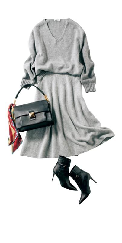 『ニットスカート』のモテコーデ6選|モテるのに体型カバーもできる最強コーデはコレ
