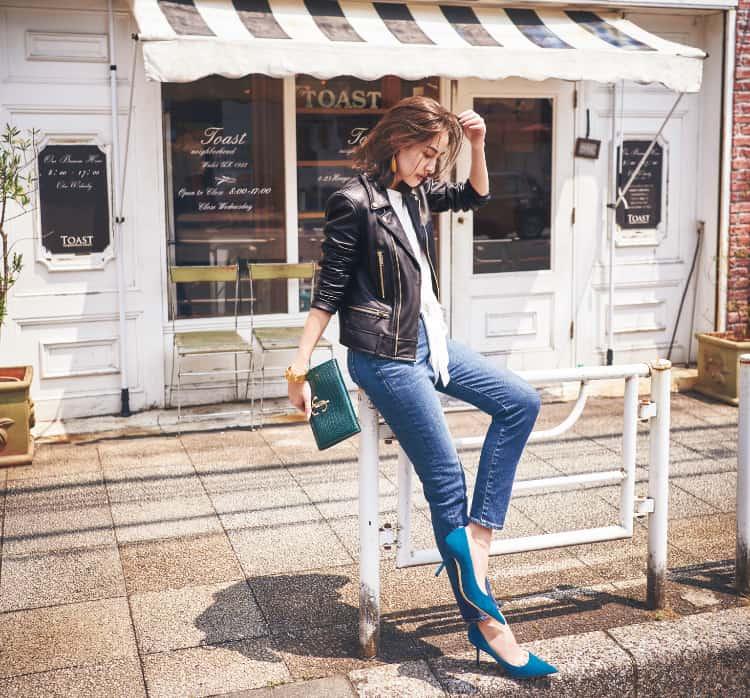 【明日の服装】定番ライダースコーデを新鮮に見せる秘訣は?【アラサー女子】