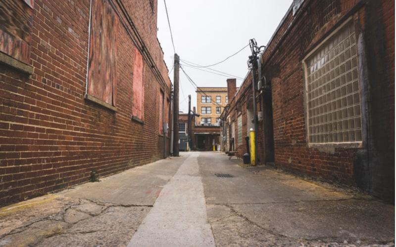 「町の中の狭い通り」のことを「