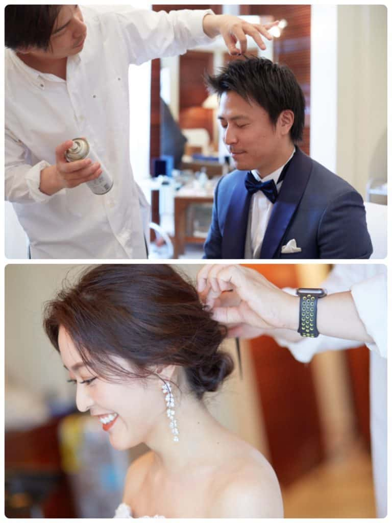 結婚式当日の流れを、写真付きで