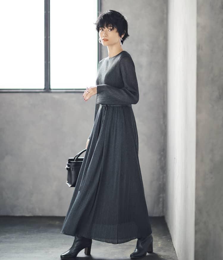 【今日の服装】スタイルアップできるワンピコーデの秘密は?【アラサー女子】