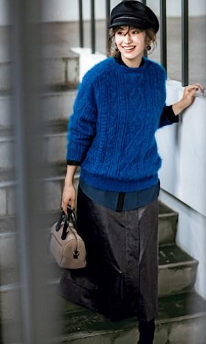 【今日の服装】寒色コーデでも「あったか見え」の配色とは?【アラサー女子】