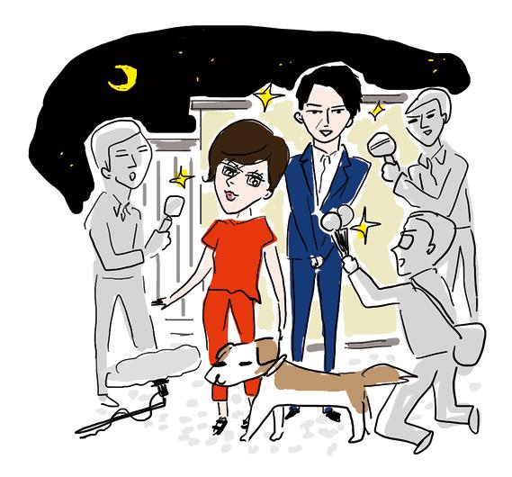同日の夜、進次郎の実家前での会