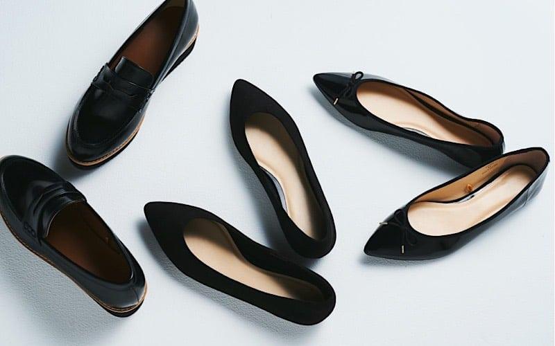 【2,500円以下】「GUの黒ぺたんこ靴」は、オシャレなSサイズ女子から指名殺到!