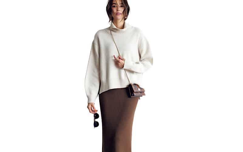 【今日の服装】スタイルアップできる「ニット×ニット」コーデって?【アラサー女子】