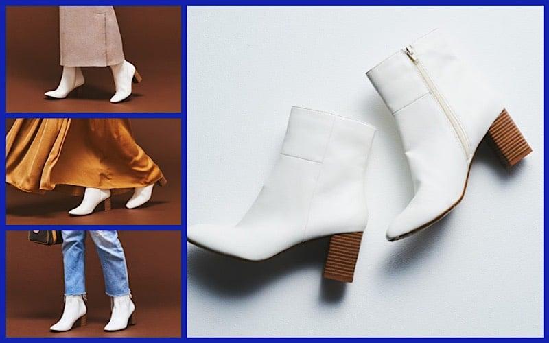 【コレが2,990円!?】履くだけで今っぽい!「GUの白ブーツ」で叶う、最旬きれいめカジュアル3選