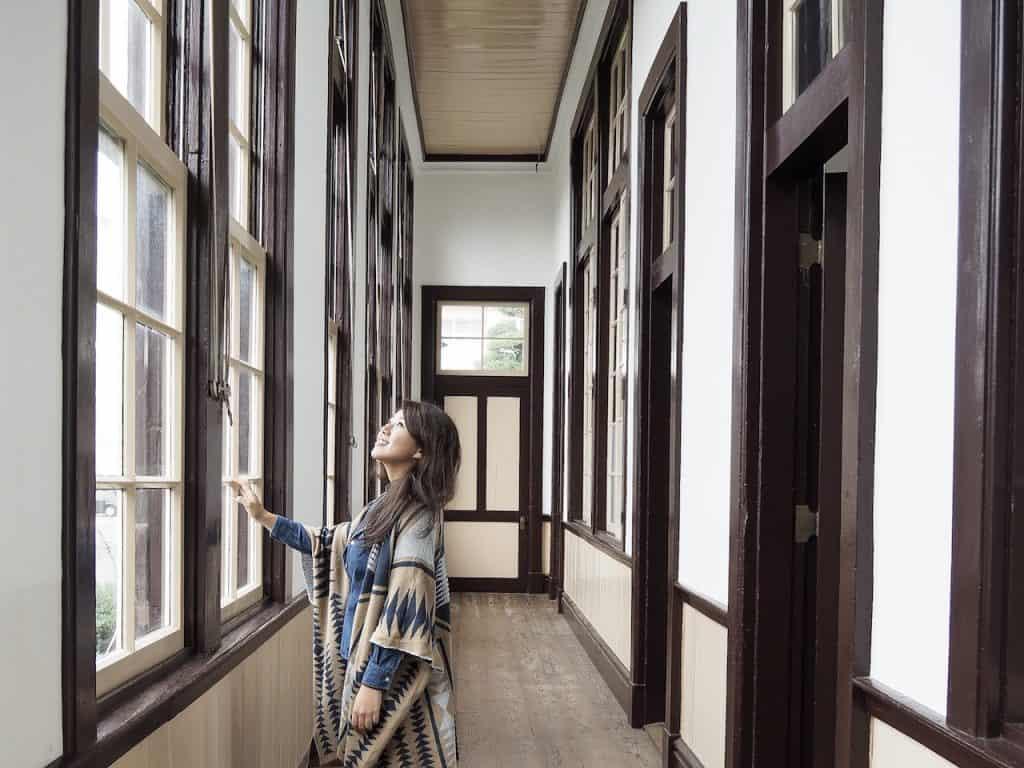 明治時代のレトロな校舎で、建築
