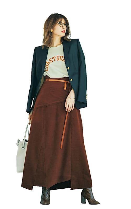 【今日の服装】「ロングスカート」を使った最旬コーデって?【アラサー女子】