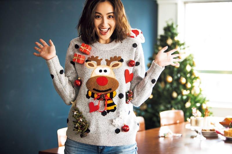 クリスマスモチーフのセーターは