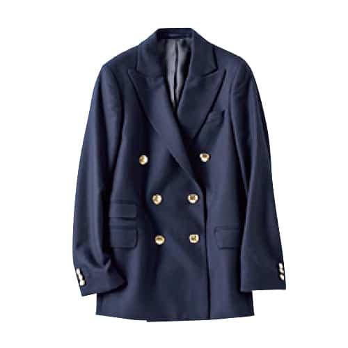 【N】ダブルの紺ジャケット 紺