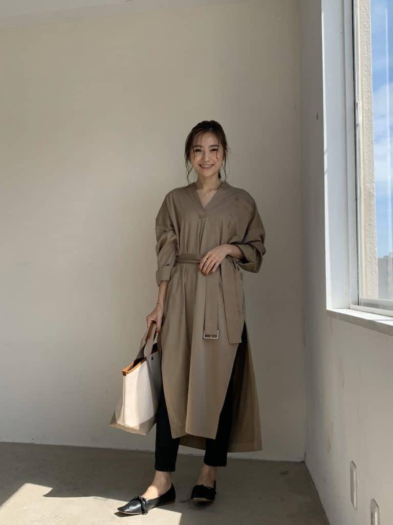 【156cmファッション】Sサイズに似合う「ゆるニットガウン」コーデ