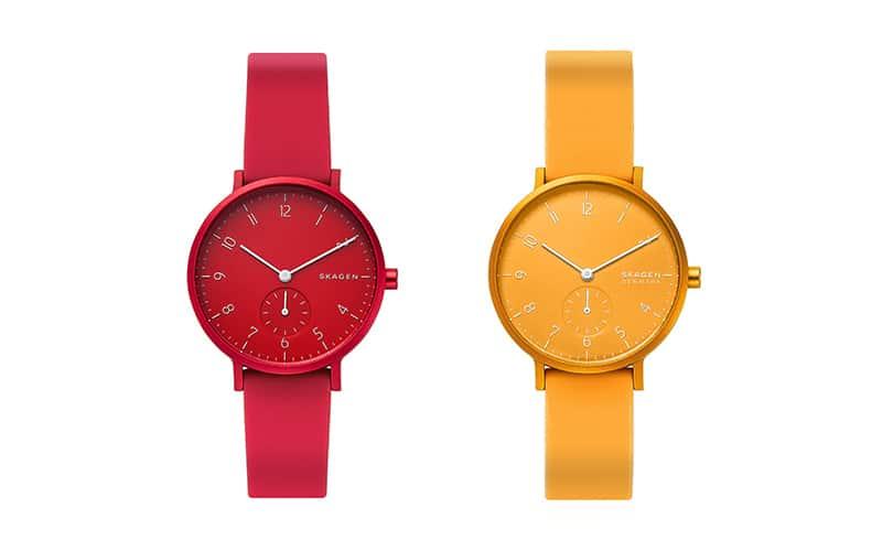 SKAGENより、見ているだけで心躍る鮮やかなカラーの腕時計「AAREN KULOR COLLECTION」と同色のデンマークのマスコット「Hoptimist」のセットを合計10名様に!