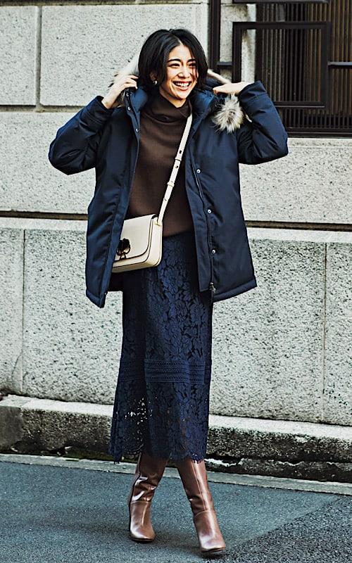 【今日の服装】ミディ丈ダウンでスタイルアップの秘訣は?【アラサー女子】