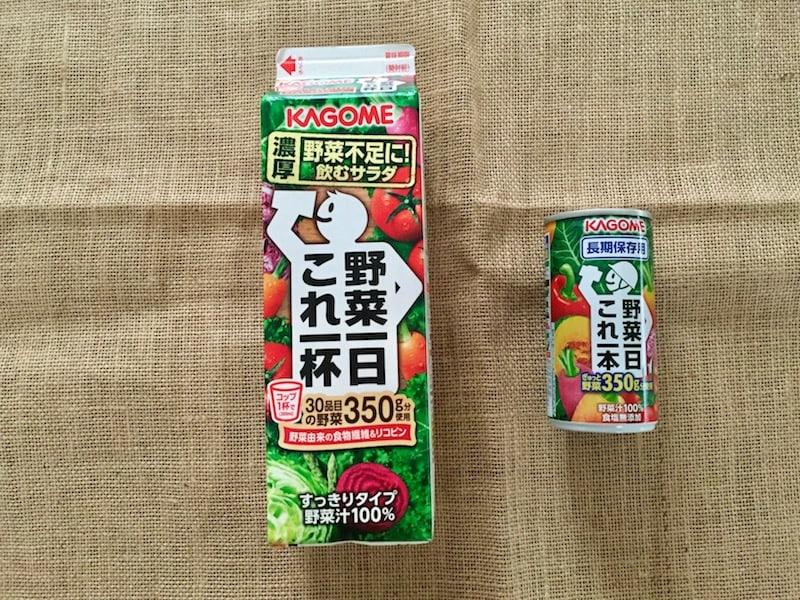 化学調味料無添加の野菜スープと野菜ジュース2