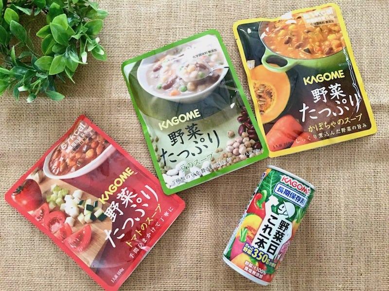 化学調味料無添加の野菜スープと野菜ジュース