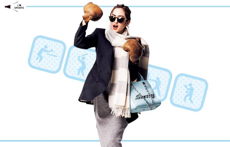 ベーシックカラーの日はバッグで外しアイテムをプラス【真冬の着回しDiaries Part①】